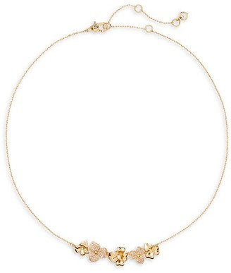 Kate Spade Goldtone & Cubic Zirconia Pave Pansy Collar Necklace