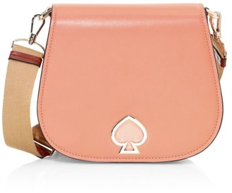 Kate Spade Large Suzy Leather Saddle Bag