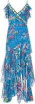 Peter Pilotto Floral-Print Georgette Maxi Dress
