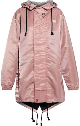 Acne Studios Osborn Face Appliqued Satin-shell Hooded Parka