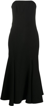 Valentino Strapless Godet Dress
