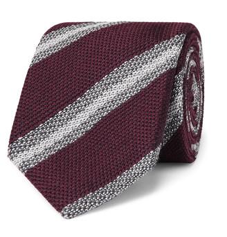 Brioni 8cm Striped Wool And Silk-Blend Tie
