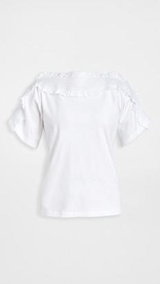 See by Chloe Ruffle Short Sleeve Tee