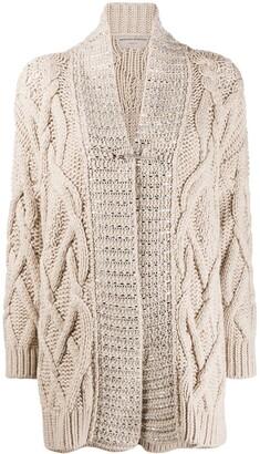 Ermanno Scervino Embellished Cable Knit Jumper