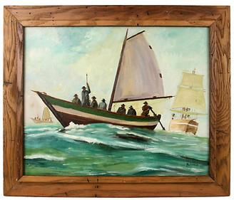 One Kings Lane Vintage New England Whalers - brunelli designs inc Art