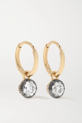 Jessica McCormack Gypset 18-karat Yellow And Blackened White Gold Diamond Hoop Earrings - One size