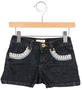 Roberto Cavalli Girls' Denim Mini Shorts