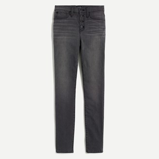 """J.Crew 10"""" Highest-Rise Skinny Jean With Button Fly In Asphalt Wash"""