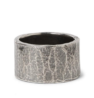 M. Cohen Oxidised Sterling Silver Ring