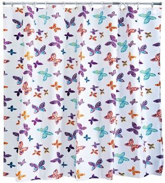 Aqualona Butterfly Blossom Shower Curtain