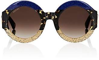 Gucci Women's GG0084S Sunglasses - Glitter Blue, Havana