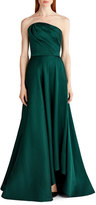 Jason Wu Satin Strapless Evening Gown