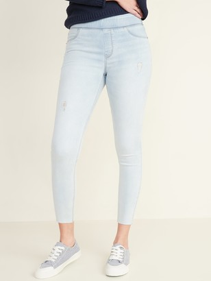 Old Navy Mid-Rise Distressed Rockstar Super Skinny Ankle Jeggings for Women
