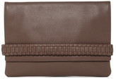 AllSaints Club Flat Leather Envelope Pouch