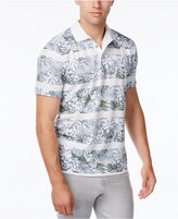 Tasso Elba Men's Floral Striped Polo, Only at Macy's
