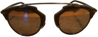 Christian Dior So Real Brown Metal Sunglasses