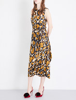 Anglomania Leopard-print sleeveless woven dress