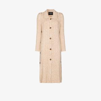 Xu Zhi Ribbed Knit Wool Cardigan Dress