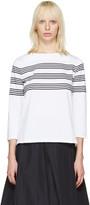A.P.C. White Striped Re T-shirt