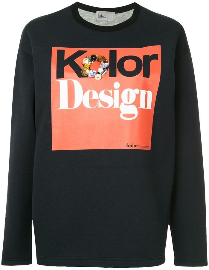 Kolor embellished logo sweatshirt