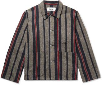 YMC Cubist Striped Flecked Wool-Blend Shirt Jacket