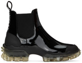Moncler Black Leather Hanya Boot