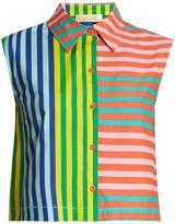 Diane von Furstenberg Striped stretch-cotton top