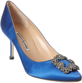 Manolo Blahnik Hangisi 70 Jewel Satin Pump