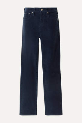 J.Crew Cotton-blend Corduroy Straight-leg Pants - Navy