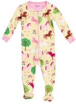 Hatley Infant Girl's Pony Orchard Print Fitted Footie