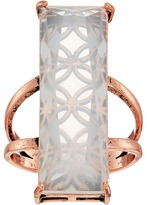 GUESS Long Rectangular Faux Stone Ring