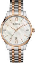Bulova Women's Diamond Accent Two-Tone Stainless Steel Bracelet Watch 36mm 98P150