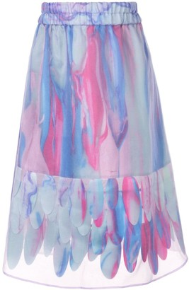 PASKAL clothes abstract-print A-line skirt