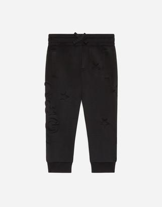 Dolce & Gabbana Neoprene Jogging Pants With Embossed Stars