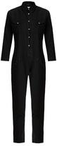R 13 Cowboy point-collar slim-leg cotton jumpsuit