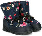 Dolce & Gabbana quilted floral lace-up boots