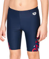 Arena Navy & Red Geometric-Panel Swimg Shorts - Boys
