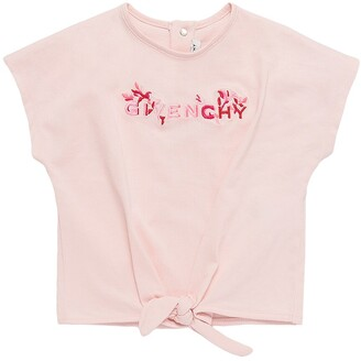 Givenchy Logo Embroidered Cotton Jersey T-Shirt
