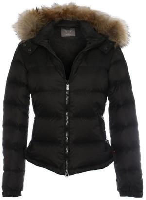 Daniel Black Fur Trim Hooded Short Jacket