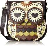 Loungefly Embroidered Owl Faux Leather Vegan Cross Body Shoulder Bag Purse