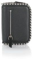 Alexander Wang Mini Fumo Wallet In Pebbled Black With Ball Studs