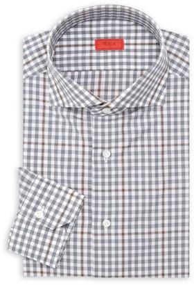 Isaia Slim-Fit Plaid Seasonal Dress Shirt