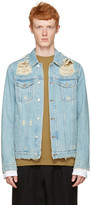 MSGM Blue Denim Destroyed Jacket