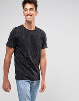 Jack and Jones T-Shirt with Tonal Raised All over Print