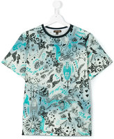 Roberto Cavalli teen Vegas print t-shirt - kids - Cotton/Elastodiene - 14 yrs
