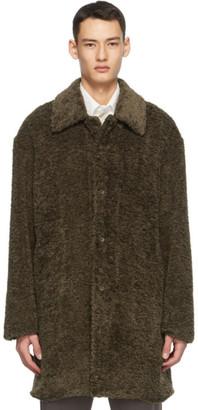 Deveaux Brown Faux-Fur Coat