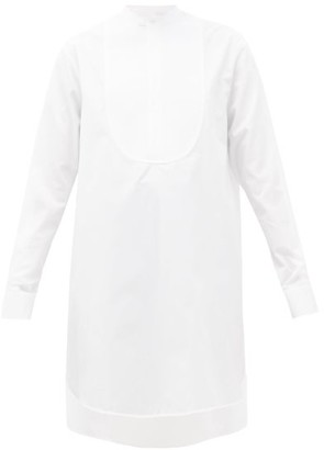 Jil Sander Bib-front Cotton-poplin Shirt - Womens - White