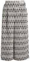 Issey Miyake Facet wide-leg geometric bonded-appliqué culottes