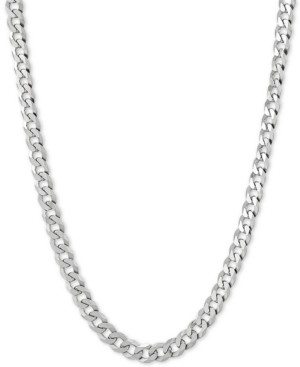 "Giani Bernini Flat Curb Link 22"" Chain Necklace in Sterling Silver"