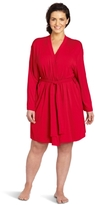 Casual Moments Women's Plus-Size Wrap Robe